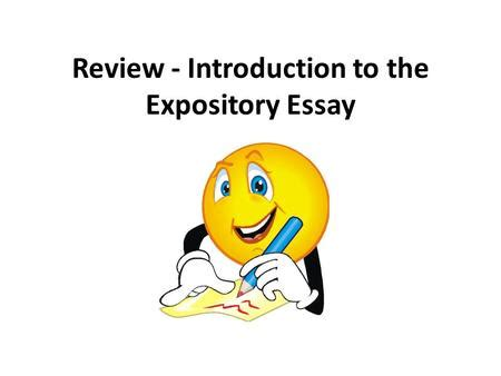 What person is an expository essay written in